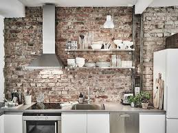 Brick Kitchen Exposed Brick Kitchen Backsplash Red Classic Brick Wall Kitchen