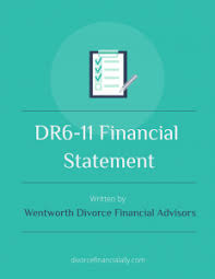 Financial Report Cover Page Dr6 11 Financial Statement Wentworth Divorce Consultants