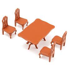 mini furniture. DIY Indah Mini Furniture Boneka Rumah Miniatur Meja Makan Kursi Set Anak Hadiah Mainan Aksesoris Kit Di Dari \u0026 Hobi E