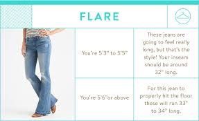 Height And Inseam Chart Guide To Denim Inseams For Women Stitch Fix Stylist