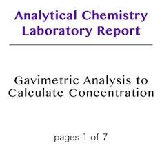 Analytical Chemistry Laboratory Reports – Dearworkbook