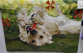 Emily's Cupboard: UK National Quilt Championships - Sandown Quilt Show & Some really fun Dogs quilts by Monika Wutzle of Brazil Adamdwight.com