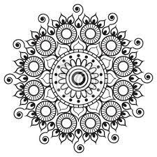 Fototapeta Henna Mehndi Tetování Mandala V Indickém Stylu