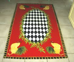 Round Rooster Kitchen Rugs Rooster Kitchen Rugs Idea Kitchen Ideas
