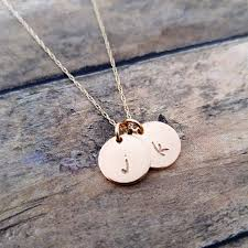 solid gold initial necklace personalized necklace gold pendant necklace 18k gold initial jewelry mothers necklace gold initial discs