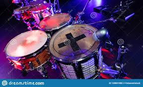 Light Up Drum Drums Close Up At The Disco Club Stock Photo Image Of