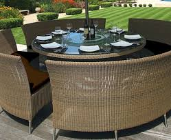 appealing unpolished teak alluring round table patio furniture