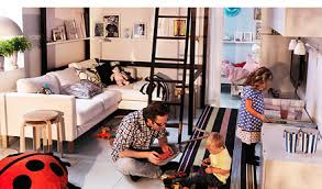 ikea furniture for small spaces. Small Space Living For The Entire Family Ikea Furniture Spaces B