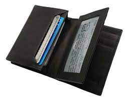 mens expandable genuine leather credit