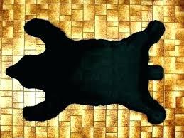 faux bear rug real skin rugs cost meme with head fake animal black fur plush maintenance faux bearskin rug