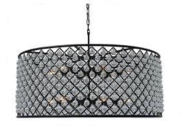 cassiel round drum crystal chandelier extra large black