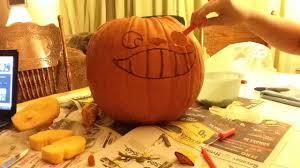 Totoro Pumpkin Designs My Neighbor Totoro Halloween Pumpkin Carving Youtube
