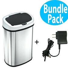 trash can 13 gallon kitchen trash cans battery automatic sensor can with free power home