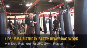 kids mma birthday party heavy bag work with sree rajendran