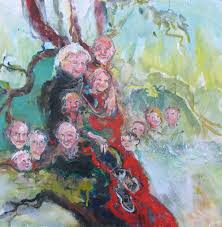 18 x 18 this one is not for although as of february 2008 the other paintings in this series are available granny s family tree is about my own