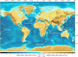 What Do The Colors Denote In A Bathymetric Chart Figure 1 From A New Digital Bathymetric Model Of The Worlds