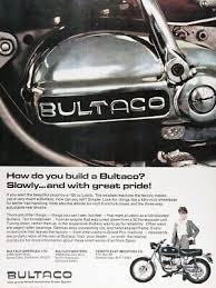 Bultaco Spain Motorcycle Mens Logo Long Sleeve Black T