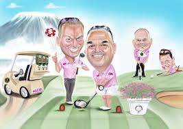 a golf caricature small