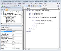 Excel Factor 6 Auto Refresh Pivottables My Online Training Hub