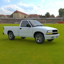 Chevy S10 Pickup 1998 - 3ds and obj - Extended License 3D Models ...