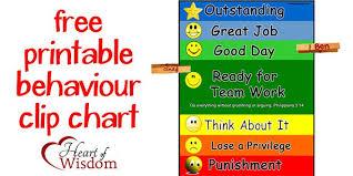 Free Discipline Charts Free Printable Behaviour_chart Behavior Clip Charts Free