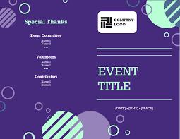 Event Programs Company Event Program