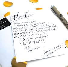 The Lost Art Of Thank You Notes Whitney Blake