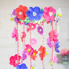 Paper Flower Mobiles Paper Flower Mobile Spring Templates Astrobrights