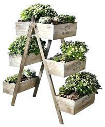 outdoor pot plant stand outdoor wooden plant stands flowers and plants wooden plant stand six seed