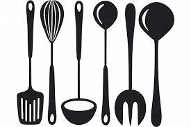 kitchen utensils silhouette vector free. Full Size Of Kitchen:impressive Kitchen Utensils Silhouette Vector Free Fabulous Illustration Cooking Set 35123777 I