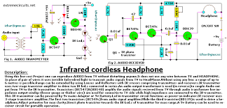 infrared cordless headphone amplifier electronics lab description
