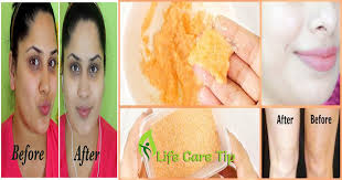 how to make mask for skin whitening and hair removal life care tips