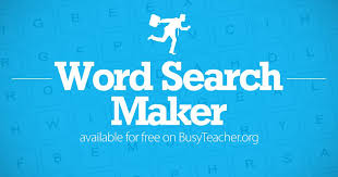 Word Search Worksheet Maker
