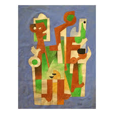 carlos merida 1891 1984 mexican artist watercolor of geometric figures c 1960