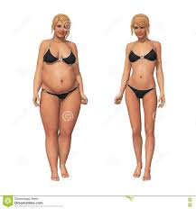 Weight Loss For Women Woman Fat To Thin Weight Loss Transformation Stock
