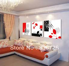 modern office wall art. aliexpresscom buy 3 piece canvas wall art modern office painting black white red fashion home decoration colorful abstract from reliable m