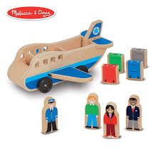 melissa doug wooden airplane