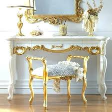 gold vanity table ion about white and set view full regarding makeup desk built in dressing this picture here gold vanity table metal set