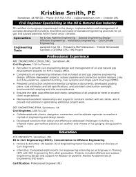 Sample Resume For A Midlevel Civil Engineer Monster Com With Free