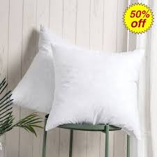 pillow sham inserts. Perfect Sham 100 Cotton Throw Pillow Inserts  Sham Stuffer Filled With Down And  Feather For On E