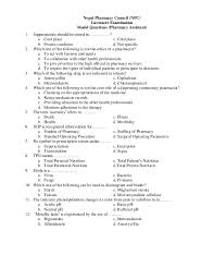 model questions for diploma pharmacy assistant  pharmacy council npc licensure examination model questions pharmacy assistant 1