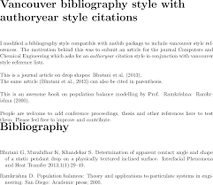 Bibtex Can I Cite Author Name Or Year In Text When Using Vancouver