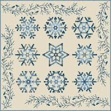 Snowflake Complete Pattern and Piece Pack by Edyta Sitar of ... & Snowflake Complete Pattern and Piece Pack by Edyta Sitar of Laundry Basket  Quilts Adamdwight.com