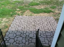 diy concrete mold patio made from a country stone quikrete molds bunnings concrete mortar