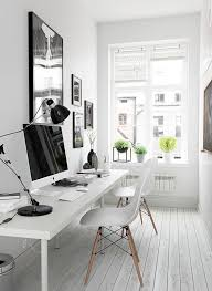 home office small office space. Black And White Workspace Home Office Small Space