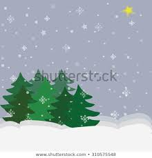 Winter Tree Template Abstract Winter Trees Template Christmas Card Stock Vector Royalty