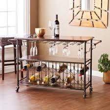 Wine rack bar table Bistro Dalton Bar Cart Wayfair Wine Rack Bar Cart Wayfair