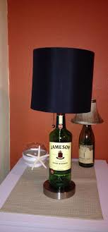 jameson liquor bottle lamp with brushed silver base by thatsbadass 49 99