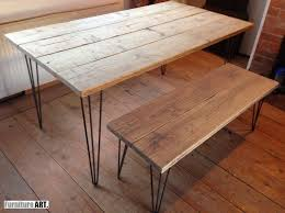 Hairpin dining table Magnolia Details About Hairpin Dining Table Vintage Industrial Rustic Reclaimed Modern Farmhouse Pine Ebay Hairpin Dining Table Vintage Industrial Rustic Reclaimed Modern