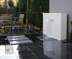 aluminium free standing water feature wall